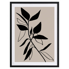 Beige Etchings I Framed Printed Wall Art