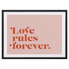 Love Rules Framed Printed Wall Art