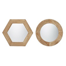 Set of 2 Assorted Enivar Mirrors