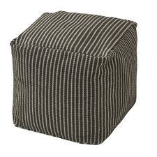 Black and Grey Archer Indoor Pouf