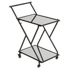 Jacob Mirrored Drinks Trolley
