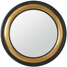 Black & Gold Round Moda Mirror