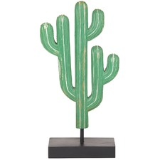 Arizona Wooden Cactus Sculpture (Set of 2)