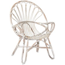 White Wash Jardine Rattan Chair