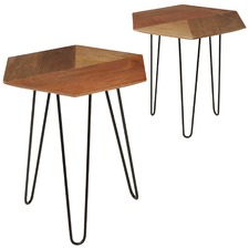 Citizenry Hexagonal Side Tables (Set of 2)