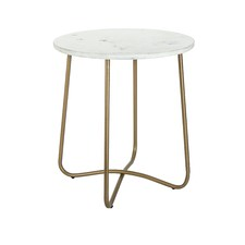 White Astor Marble Side Table
