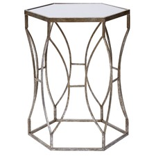 Delray Metal & Glass Side Tables (Set of 2)