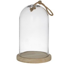 Austin Glass Cloches with Rope (Set of 2)