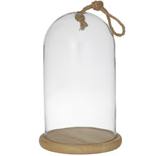 Clear Austin Glass Cloches with Rope (Set of 2)