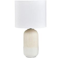 White Darcy Ceramic Table Lamp