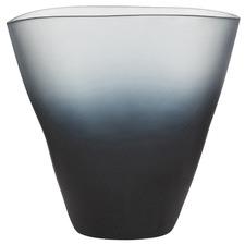 Matte Ombre Grey Ingrid Glass Vases (Set of 2)