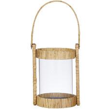 Tango Bamboo & Glass Lanterns (Set of 2)