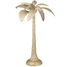 Large Gold Standing Palm Metal Sculpture