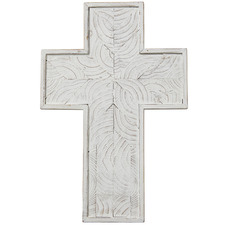51cm White Northford Wooden Cross Wall Accents (Set of 2)