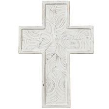 37cm White Northford Wooden Cross Wall Accents (Set of 2)