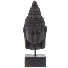 Black Budi Wooden Sculptures (Set of 2)