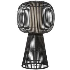 Black Benton Bamboo Table Lamp