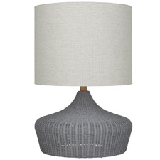 Grey Hawthorne Rattan Table Lamps (Set of 2)