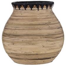 Natural Tanah Rattan Vase