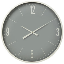 87cm Grey Pearson Metal Wall Clock