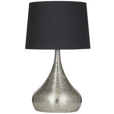65cm Satin Nickel Azizah Metal Table Lamps (Set of 2)