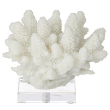 11cm Coral Resin Sculpture on Stand