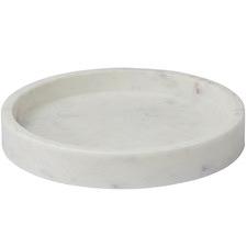 White Bianco Marble Trays (Set of 2)