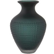 Emerald Green Eidra Glass Vases (Set of 2)