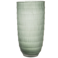 Green Sorrell Cut Glass Vases (Set of 2)