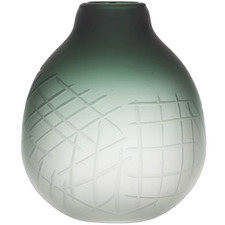 Small Frosted Green Arden Glass Vases (Set of 2)