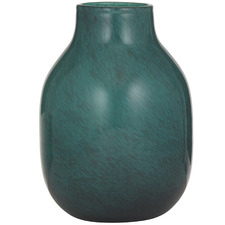 34cm Teal Isobel Glass Vases (Set of 2)