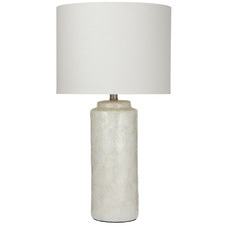 Ivory Capiz Table Lamps (Set of 2)