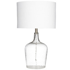 White Remy Glass Table Lamps (Set of 2)