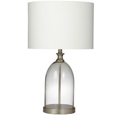 Silver Marlo Glass Table Lamps (Set of 2)