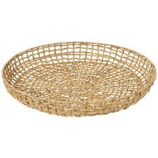 Lakota Metal & Water Hyacinth Decorative Wall Baskets (Set of 2)