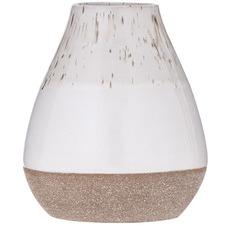 Speckle Cream Kaholo Earthenware Vases (Set of 2)