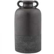 Matte Black Salinger Ceramic Vases (Set of 2)