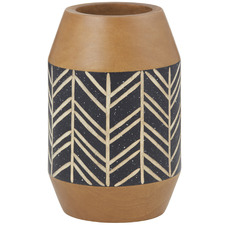Wide Keith Wooden Vases (Set of 2)