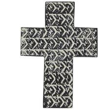 Black Saxon Concrete Cross Wall Accents (Set of 2)