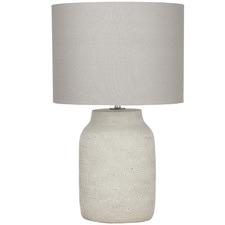 Cream Oden Ceramic Table Lamp (Set of 2)