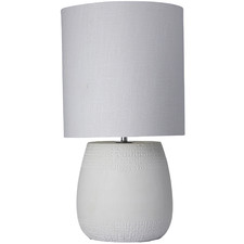 White Franklin Ceramic Table Lamps (Set of 2)
