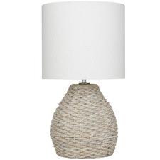 Whitewash Somers Water Hyacinth Table Lamp
