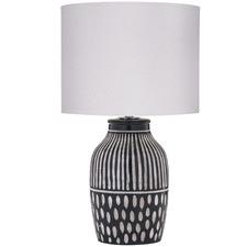 Dark Green & Stone Bodil Ceramic Table Lamps (Set of 2)