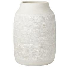 Tall Cream Oden Ceramic Vases (Set of 2)