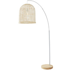 Metal & Rattan Weave Floor Lamp