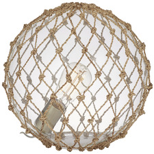 29cm Natural Rory Glass & Rope Table Lamps (Set of 2)