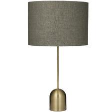Antique Brass Saxon Metal Table Lamps (Set of 2)