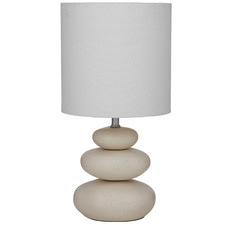 Speckled Ivory Pebble Ceramic Table Lamps (Set of 2)