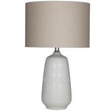 White Poppy Ceramic Table Lamps (Set of 2)