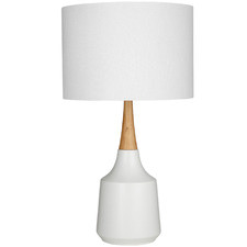 White Revival Ceramic Table Lamps (Set of 2)